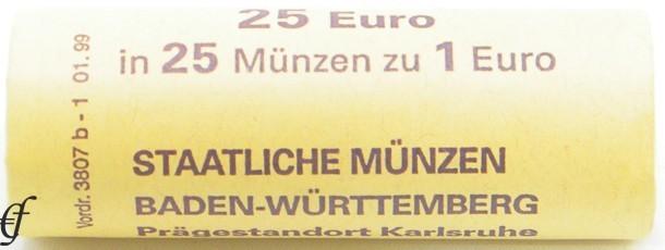deutschland rolle 1 euro 2002 g karlsruhe ebay. Black Bedroom Furniture Sets. Home Design Ideas