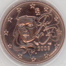 Frankreich 2 Cent 2008 Eurofischer