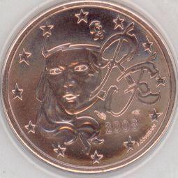 Frankreich 5 Cent 2008 Eurofischer