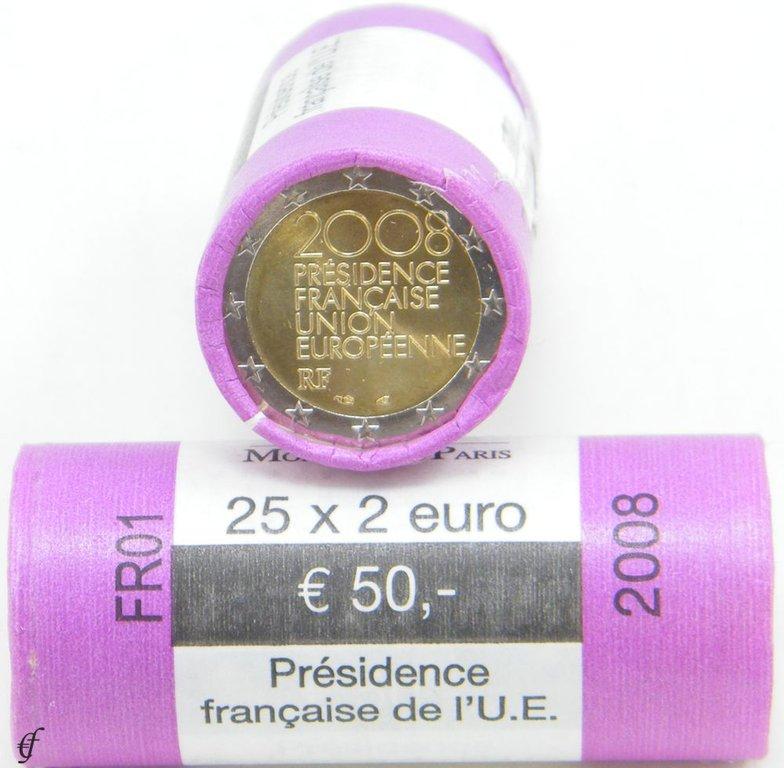 rolle 2 euro gedenkm nzen frankreich 2008 unc eurofischer. Black Bedroom Furniture Sets. Home Design Ideas