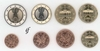 Germany all 8 coins J Hamburg 2006
