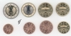 Germany all 8 coins J Hamburg 2008