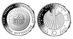 Germany 10 Euro 2006 Proof Fussball Wm G Karlsruhe