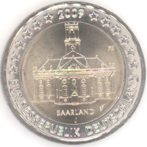 rolle 2 euro gedenkm nzen deutschland 2009 j ludwigskirche eurofischer. Black Bedroom Furniture Sets. Home Design Ideas