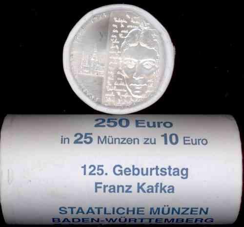 Rolle Deutschland 10 Euro 2008 Bfr Kafka Eurofischer
