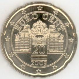 österreich 20 Cent 2009 Eurofischer