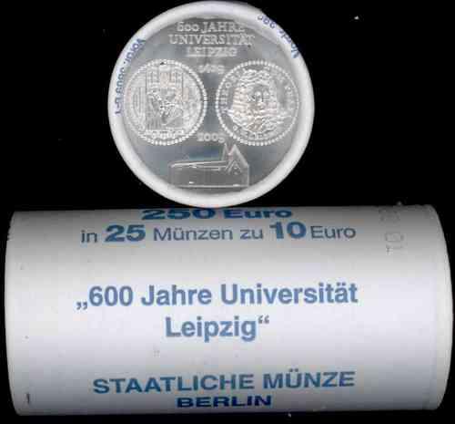 Rolle Deutschland 10 Euro 2009 Bfr 600 Jahre Universität Leipzig