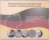 German silver commemorative set 2002 proof