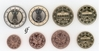 Germany all 8 coins G Karlsruhe 2010