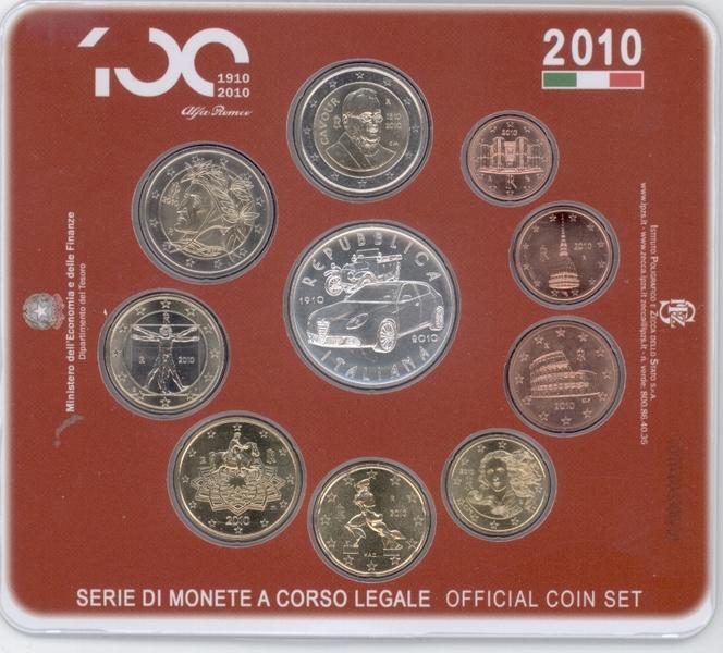 Italien Original Kms 2010 Mit 5 Euro Münze Eurofischer