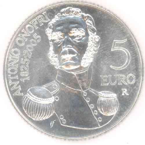San Marino 5 Euro Cc 2005 From Bu Set Eurofischer