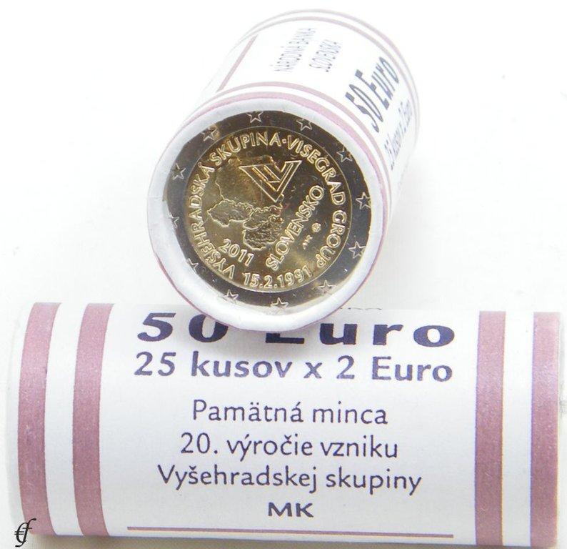 rolle 2 euro gedenkm nzen slowakei 2011 visegrad gruppe ebay. Black Bedroom Furniture Sets. Home Design Ideas
