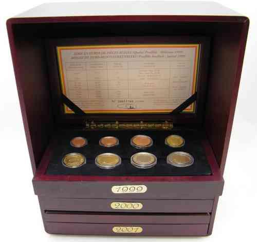 Belgien Original Kms 1999 2000 2001 Intro Set Pp Eurofischer