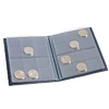 Coin Wallet with 8 Coin Sheets each for 12 coins, blue