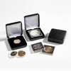 Metal single coin box NOBILE up to Ø 28 mm in black