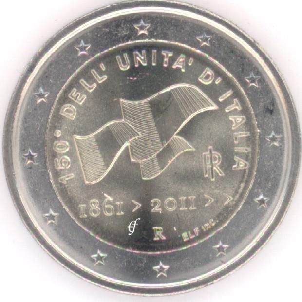 rolle 2 euro gedenkm nzen italien 2011 150 jahre vereinigung eurofischer. Black Bedroom Furniture Sets. Home Design Ideas