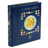 VISTA Coin Album for 2-Euro coins (4 neutral sheets), incl. slipcase, blue