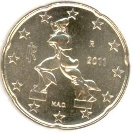 Italien 20 Cent 2011 Eurofischer
