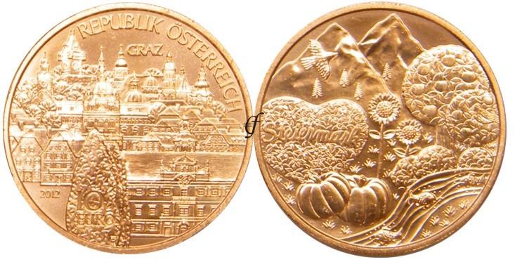 österreich 10 Euro 2012 Steiermark Eurofischer