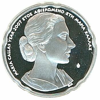10 евро 2007 каллас цена монеты ограниченным тиражом