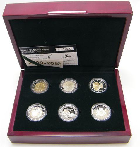 2 Euro Gedenkmünzen Luxemburg 2009 2012 Pp Set Eurofischer