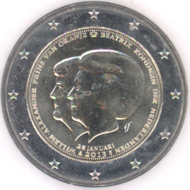 2 euro gedenkm nze niederlande 2013 doppelportrait. Black Bedroom Furniture Sets. Home Design Ideas
