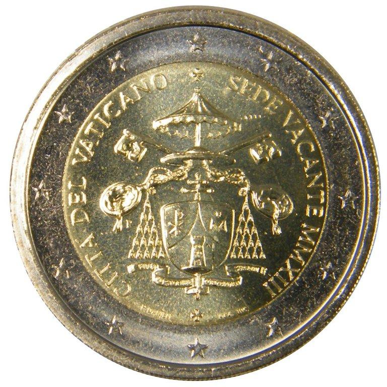 2 Euro Gedenkmünze Vatikan 2013 Sede Vacante Eurofischer