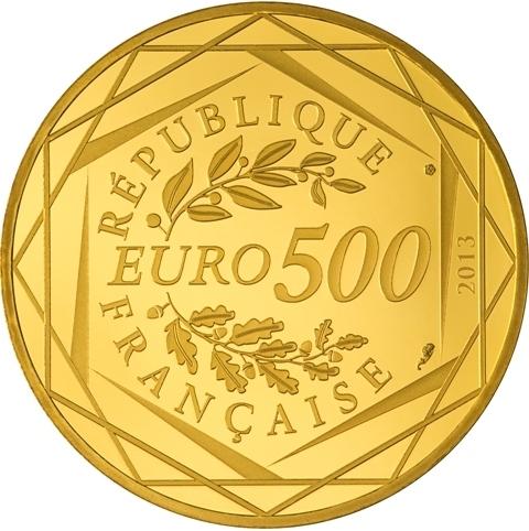 Frankreich 500 Euro Gold 2013 Französische Republik Eurofischer
