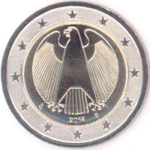 Deutschland 2 Euro D München 2014 Adler Eurofischer