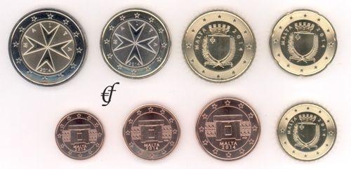 Malta Alle 8 Münzen 2014 Eurofischer