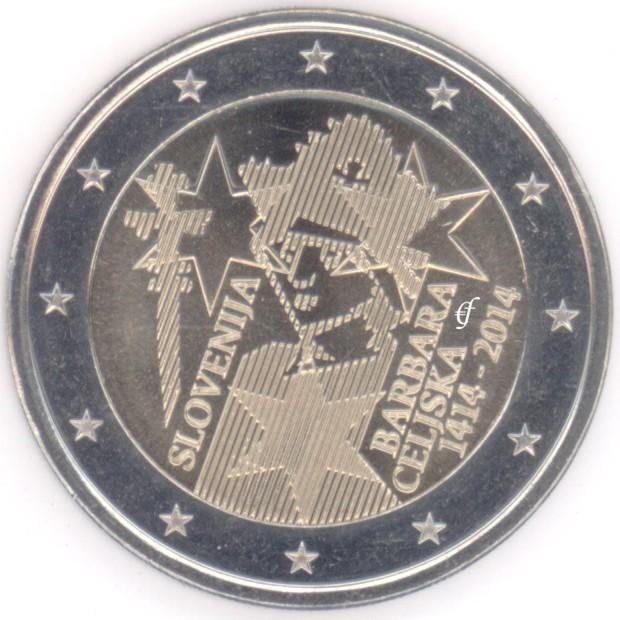 rolle 2 euro gedenkm nzen slowenien 2014 barbara celjska eurofischer. Black Bedroom Furniture Sets. Home Design Ideas