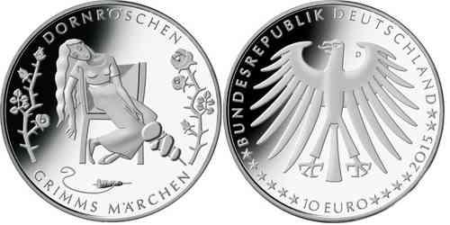Deutschland 10 Euro 2015 Pp Dornröschen Eurofischer