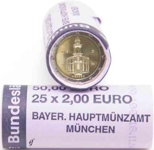 Rolle 2 Euro Deutschland 2015 D Paulskirche Eurofischer