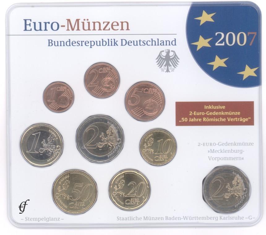 Deutschland Original Kms 2007 Prägestätte Wählen Eurofischer