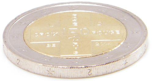 2 Euro Gedenkmünze Belgien 2014 Rotes Kreuz Fehlprägung It Eurofischer