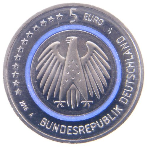 5 Euro Coin Germany CC 2016 Planet Earth Mint Select