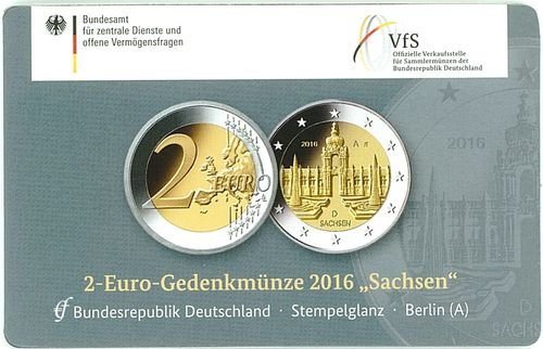 2 Euro Coincard Deutschland 2016 A Berlin Eurofischer