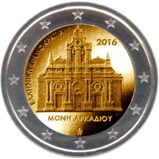 rolle 2 euro gedenkm nzen griechenland 2016 kloster arkadi eurofischer. Black Bedroom Furniture Sets. Home Design Ideas