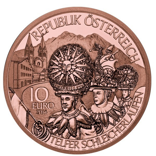 ABO 5€ and 10€ CC Austria 2017 BU Copper
