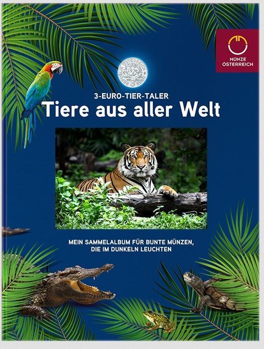Sammelalbum 3 Euro Tier Taler Austria Eurofischer