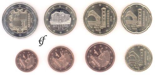 Andorra Alle 8 Münzen 2016 Eurofischer