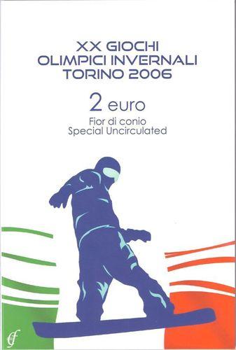 2 Euro Blister Coincard Italy 2006 Winter Olympics Turin Eurofischer