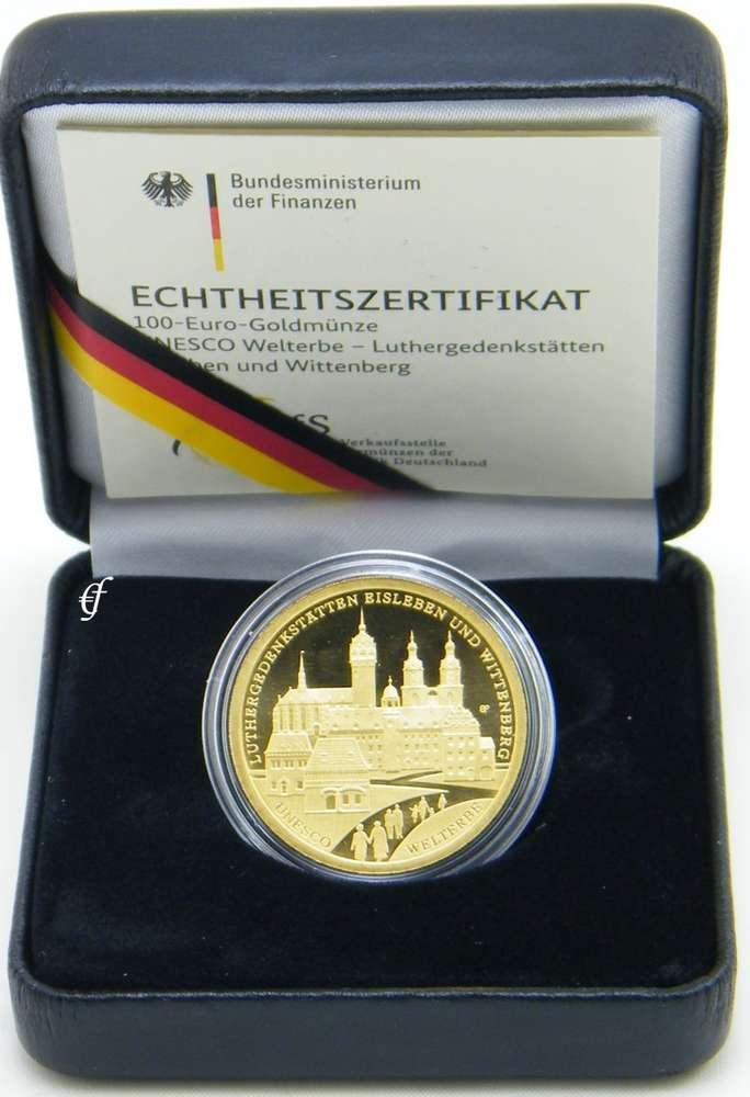 Deutschland 100 Euro Gold 2017 A Luthergedenkstätten Eurofischer