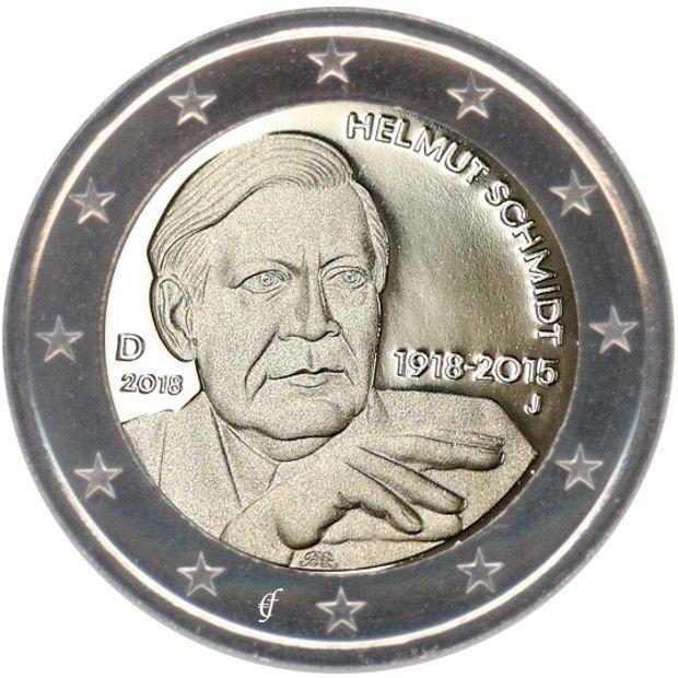 Rolle 2 Euro Deutschland 2018 Helmut Schmidt Eurofischer