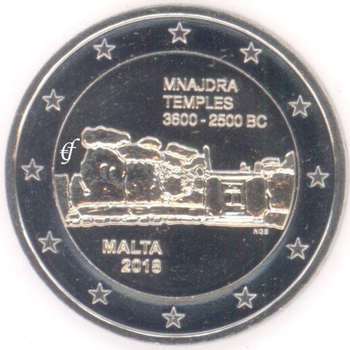 2 Euro Gedenkmünze Malta 2018 Mnajdra Mit Münzzeichen F Eurofischer