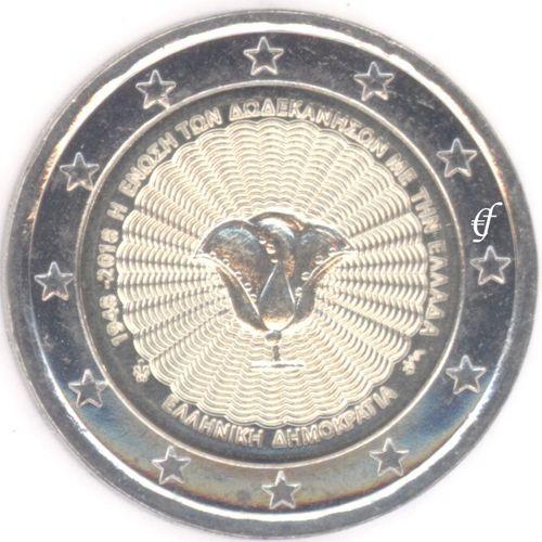 2 Euro Gedenkmünze Griechenland 2018 Dodekanes Eurofischer