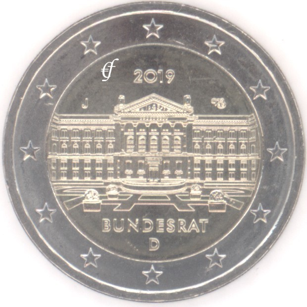 2 euro gedenkm nze deutschland 2 euro 2019 j bundesrat. Black Bedroom Furniture Sets. Home Design Ideas