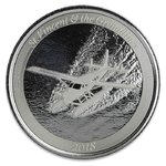 Silber EC8 St. Vincent & the Grenadines Seaplane 1oz 2018