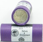 Roll 2 Euro CC Malta 2019 Nature and Environment