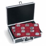 Coin Case CARGO S6 for 120 10-/20-Euro-Coins in capsules, black/silver